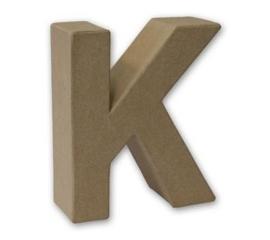 1929 3111- stevige decoratie letter van papier mache - 3D letter K