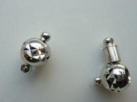 CH.030.1- sterke magneetsluiting bal met pen 10mm zilverkleur - SUPERLAGE PRIJS!