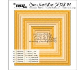 CE115634/0022- Crealies Crea-nest-lies XXL - no.22 - 12 stuks van 2.5 tot 13.5cm
