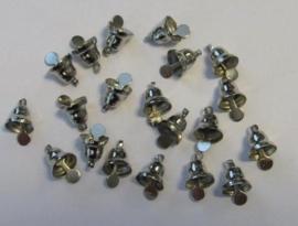 CE801400/4401- 20 stuks klokjes van 8mm staalkleur