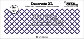 CE115634/2507- Crealies decorette XL - no.7 vierkant 45x135mm