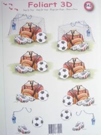 kn/464- A4 knipvel AANBIEDING foli art no.542 voetbal