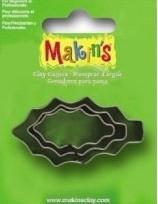 CE117918/6028- Makin`s clay uitsteker hulstblad 2-4cm