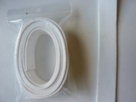 1 meter imitatie suede veter van 20mm breed wit
