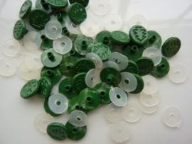 SLK210.D- 40 stuks snaps eyelets denneboom groen OPRUIMING