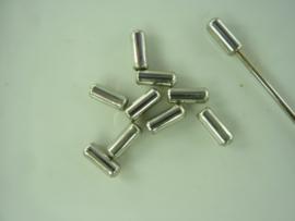 5995 - 10 stuks metalen dopjes voor spelden - met rubberen binnenkant