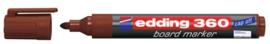 CE390360/0007- edding-360 boardmarker met punt van 1.5-3mm bruin