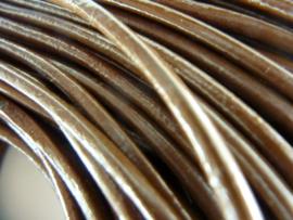 1 meter echt leren veter licht bruin van 3mm dik - SUPERLAGE PRIJS!
