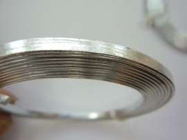CH.003- 2 meter aluminiumdraad plat van 3 mm breed zilverkleur