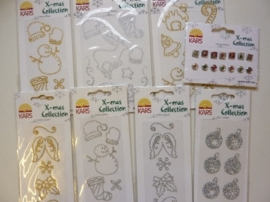 005847- setje met diverse Xmass collection accessoires OPRUIMING