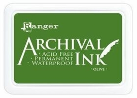 1878 0321- Ranger Archival ink coussin olive