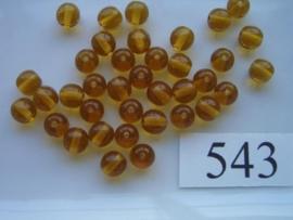 543 Ronde glaskraal 5.5 mm licht bruin