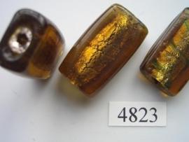 zilverfolie, platte rechthoek 35x20x10mm 4823