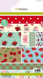 CE118040/0102- 32 vel Craft Emotions paperstack A5 fifties kitchen