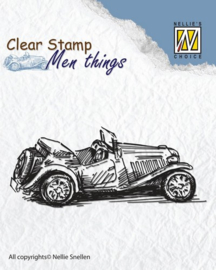 CE130510/2805- Nellie's Choice clearstamp - men things oldtimer 75x30mm