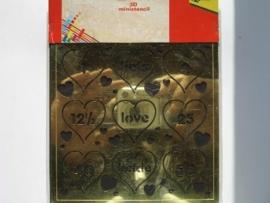 02477- mini embossingstencil no.1004 13x13cm opruiming