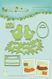 CE115645/0546- Le Crea Lea'bilitie snij- & embossingmal young birds