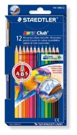 CE320200/0312- 12 stuks Staedtler Noris club aquarell kleurpotloden & penseel