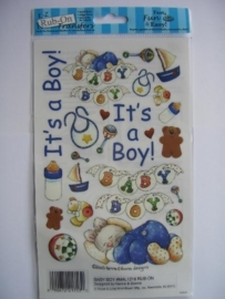 5534- E-Z rub-ons baby boy incl. krasstokje
