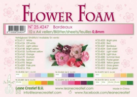 CE800205/4247- 10 sheets flower foam sheets A4 - bordeaux