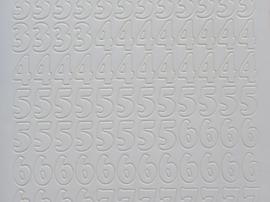 ST.1125- cijfers wit 10x20cm