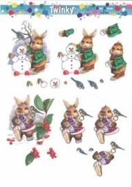 kn/1704- A4 knipvel twinky Marianna D winter -117140/0523