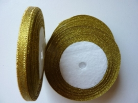 rol met 22.86 meter sparkle goud lint van 6mm breed OPRUIMING