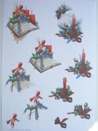kn/487- A4 knipvel kerst hobby totaal