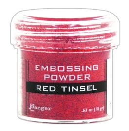CE306320/1061- Ranger embossing powder 34ml - red tinsel