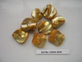 8 x hangers van schelp onregelmatig goud 117466/3828