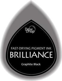 132019/1082- brilliance stempelkussen dew drops black 3.5x5cm