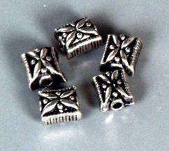 5 x zwaar metalen kralen 10x8.5mm 117456/9159KA