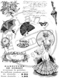 CE180016/0864- Marianne Design clearstamp Victorian vrouwen nr.2