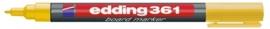 CE390361/0005- Edding-361 boardmarker met punt van 1mm geel