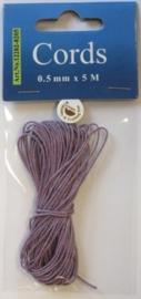 000CE440200/8205- 5 meter waxcord van 0.5mm dik violet