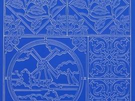 272- molen blauw 10x20cm