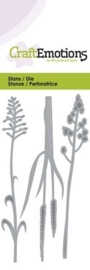 CE115633/0142- Craft Emotions Die 5x10cm bloeiend gras