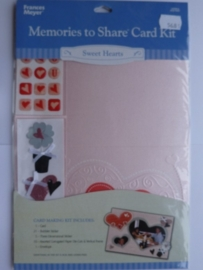 5681- Francis Meyer sweethearts kaartenmaak kit met diverse accessoires OPRUIMING