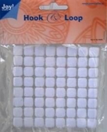 6500/0082- klitteband vierkantjes hook & loop 10x10mm