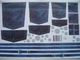 kn/592- A4 knipvel OPRUIMING Marjoleine spijkerbroek nr.387