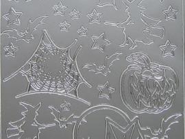 395- halloween zilver 10x20cm