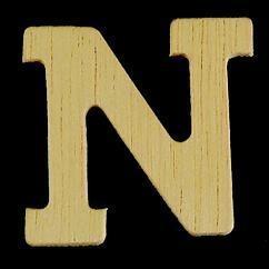 8735 621- 4cm houten letter N