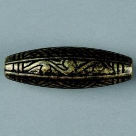 metalen kraal antiek goud 42x14mm 117465/2627
