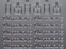 320- uitnodiging zilver 10x20cm