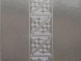st 458HT- smalle rechte rand met hoekjes zilver