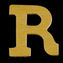 8735 625- 4cm houten letter R