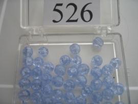 526 Ronde glaskraal 5.5 mm. lichtblauw