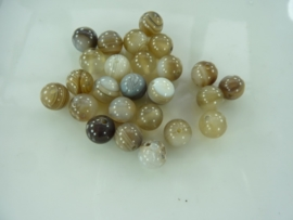 3250- 25 stuks botswann naturel agaat kralen 8mm gemstone