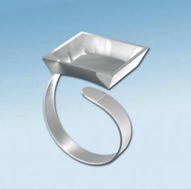 2152 133- Fimo ring rechthoekig verstelbaar