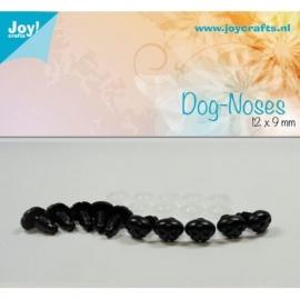 Joy6300/0621- 10 stuks neuzen 12x9mm zwart